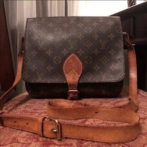 Auth Louis Vuitton Cartouchiere GM crossbody bag